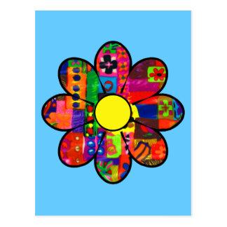 Flower power de los años 60 tarjeta postal