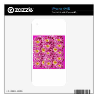 flower power decal for the iPhone 4