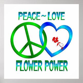 FLOWER POWER del amor de la paz Impresiones