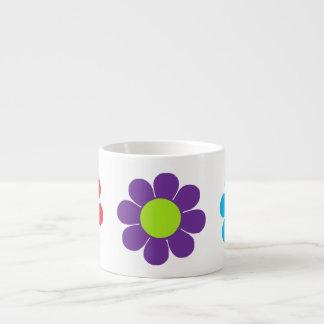 Flower power del estallido taza espresso