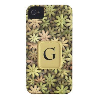 Flower power del metal Case-Mate iPhone 4 coberturas