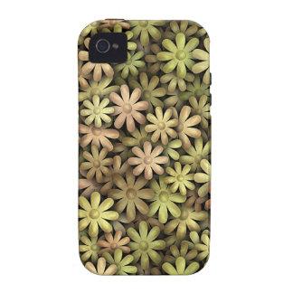 Flower power del metal iPhone 4/4S carcasas