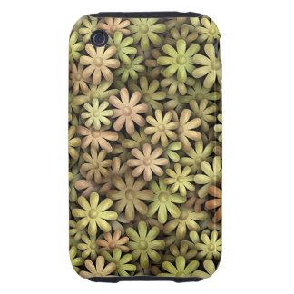 Flower power del metal tough iPhone 3 cárcasa