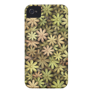Flower power del metal iPhone 4 Case-Mate protector