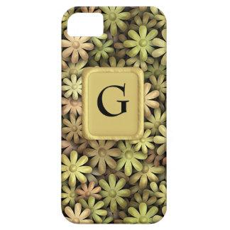 Flower power del metal iPhone 5 carcasas