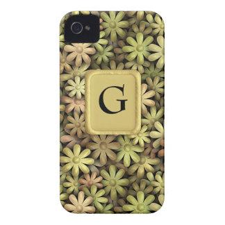 Flower power del metal iPhone 4 Case-Mate funda