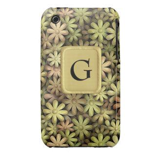 Flower power del metal iPhone 3 Case-Mate coberturas