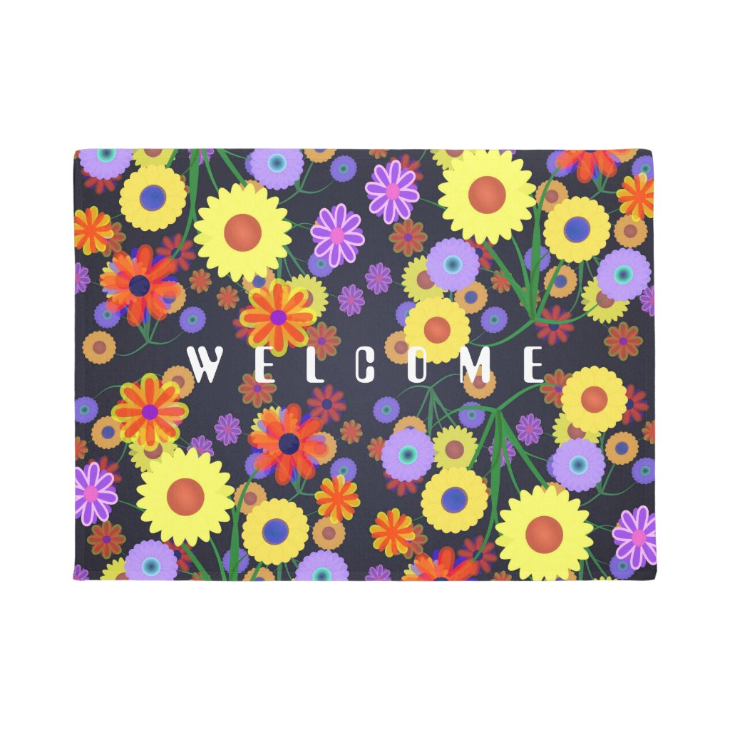 Flower Power Doormat