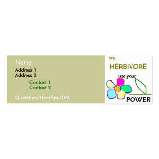 Flower Power Double-Sided Mini Business Cards (Pack Of 20)