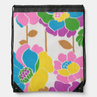 Flower Power Drawstring Backpack