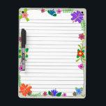 "Flower Power Dry-Erase Board<br><div class=""desc"">Designed using Inkscape</div>"