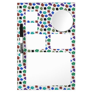 Flower Power Dry Erase Broad with mirror Dry Erase Board With Mirror