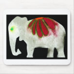 Flower Power Elephant Mouse Pad