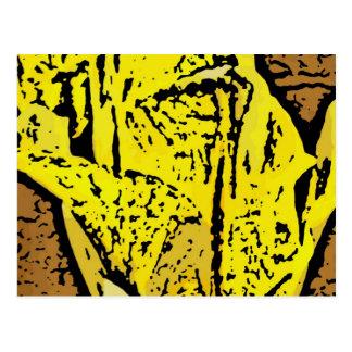 Flower power en amarillo postal