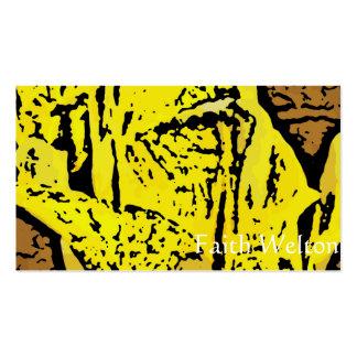 Flower power en amarillo tarjetas personales