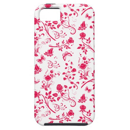 Flower power en caso del iPhone de las rosas Funda Para iPhone 5 Tough
