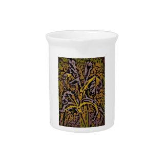 Flower power en lavanda jarras para bebida