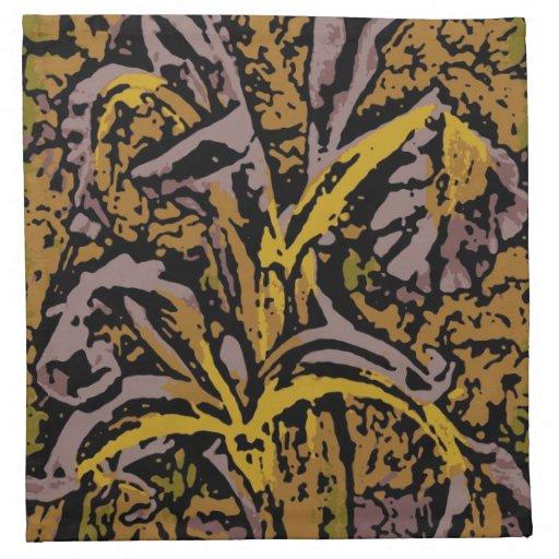 Flower power en lavanda servilletas de papel