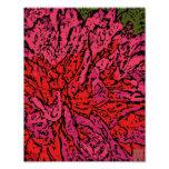 Flower power en magenta y rojo arte fotográfico