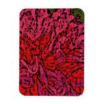 Flower power en magenta y rojo imanes de vinilo