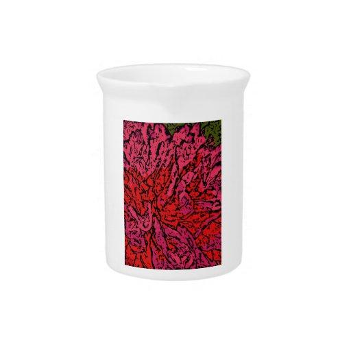 Flower power en magenta y rojo jarrón