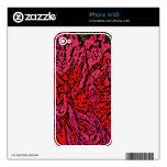 Flower power en magenta y rojo calcomanías para el iPhone 4