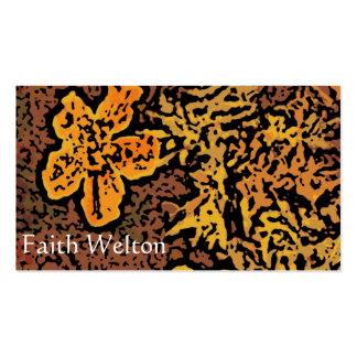 Flower power en naranja y amarillo tarjeta personal