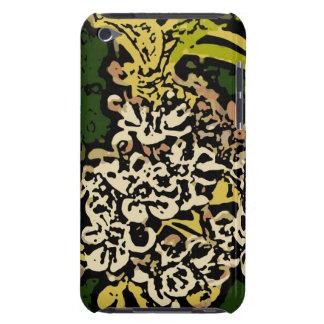 Flower power en oro y blanco iPod Case-Mate carcasa