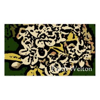 Flower power en oro y blanco tarjetas de negocios