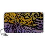 Flower power en púrpura y amarillo notebook altavoz