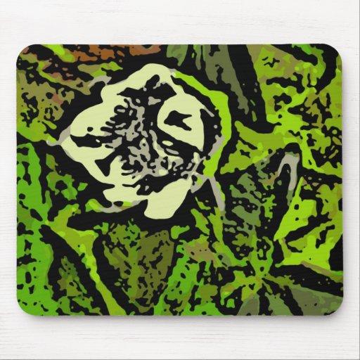 Flower power en verde alfombrilla de ratón