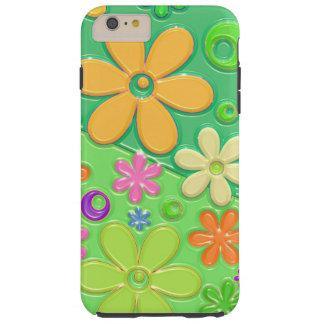 Flower power en verde funda de iPhone 6 plus tough