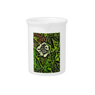 Flower power en verde jarra de beber