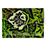 Flower power en verde tarjeta de felicitación