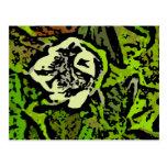Flower power en verde tarjeta postal