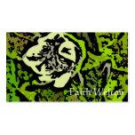 Flower power en verde tarjetas de visita