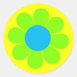 Flower power etiqueta