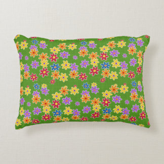 Flower Power Fabric Pattern + your ideas Accent Pillow