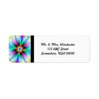 Flower Power Fractal Return Address Label