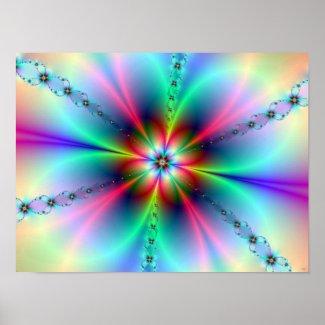 Flower Power Fractal Print print
