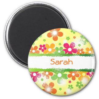 Flower Power fridge magnet