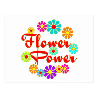 Flower Power Fun Postcard