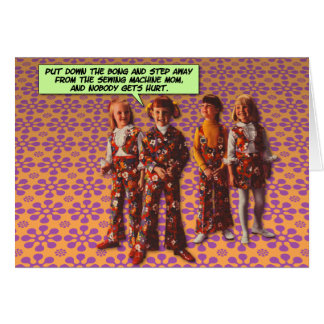Flower Power [funny greeting card] Card
