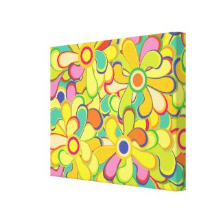 Flower Power Gallery Wrapped Canvas