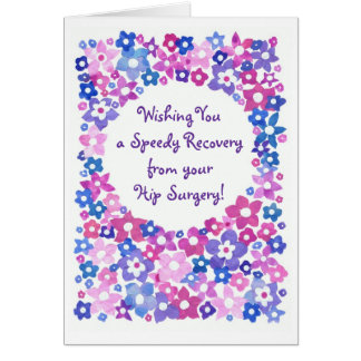 'Flower Power' Get Well Greeting Card to Customize