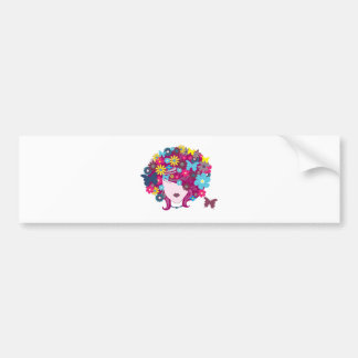 FLOWER POWER GIRLY BUTTERFLIES BEAUTY FASHION LOGO BUMPER STICKER