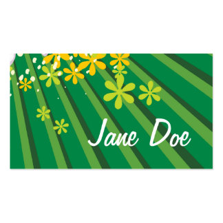 Flower Power & Green Rays Business Cards