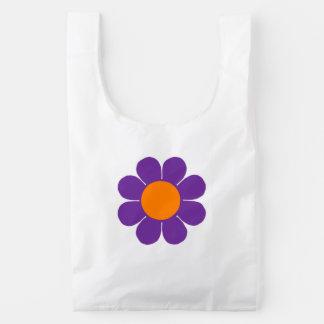 Flower power bolsa reutilizable
