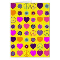 Flower Power Heart Peace Pattern   your backgr.