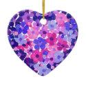 Flower Power Heart-shaped Ornament ornament